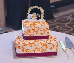 Wedding Cake With Lego Bride and Groom