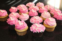 Pink and White Birthday Cupcakes