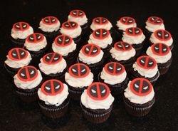 Deadpool Theme Cupcakes