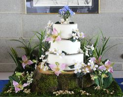 Forest Theme Wedding Cake