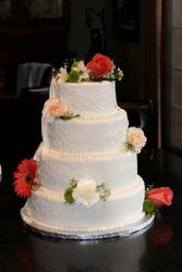 4 Tiered Wedding Cake With Groom's Cake