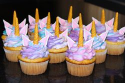 Unicorn Theme Birthday Cupcakes