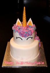2 tiered Unicorn Theme Birthday