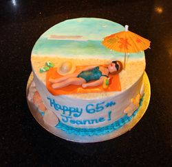 Beach / Cruise Theme Birthday Cake