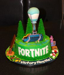 Fortnite Theme Birthday Cake