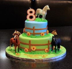 Horse Themed Brthday Cake