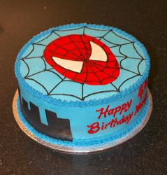 Spiderman Theme Birthday Cake for Harry