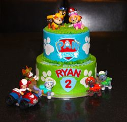 2 Tiered Paw Patrol Birthday Cake