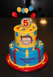 Curious George 5th Birthday Cake
