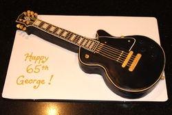 3D Les Paul Gibson guitar cake