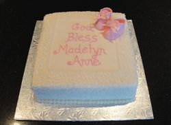 Baptism / Christening Cake with Fondant Booties