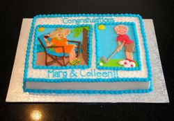 Double Retirement Cake