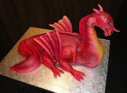 Red Dragon 3D Cake