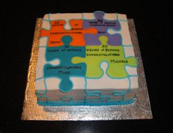 Years of Service Theme Cake