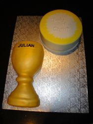 First Communion Chalice & Host Cakes for Julian