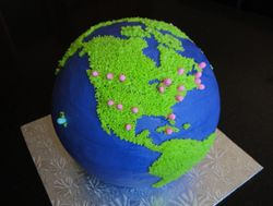 Whole World  Bride/Groom's Cake