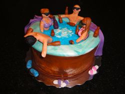 Stag n' Doe Hot Tub Party Theme Cake