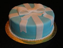 Tiffany Blue Present Cake