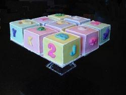 Baby Block Cakes