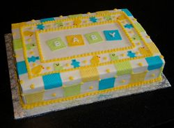 Baby Blanket Themed Baby Shower Cake