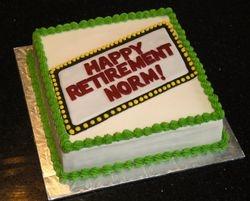Happy Retirement Cake