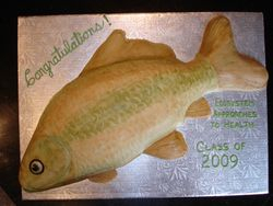 Carp Theme Cake - University of Guelph Class of 2009