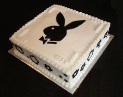 60's Theme party cake  - Playboy Bunny