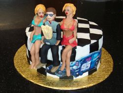 Winner's Circle - Race Car Driver Bachelor Party Cake