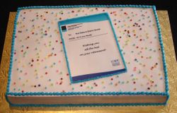 Retirement Party Cake - Office Memo