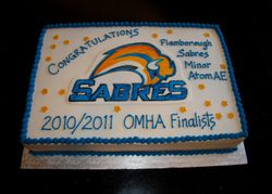 Sabres Hockey Celebration Cake