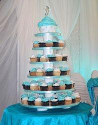 Aqua Wedding Cupcakes & Giant Cupcake