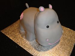 Brides Cake - Cute & Cuddly 3D Hippo