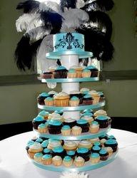 Tiffany Blue Wedding Cake/Cupcakes