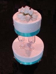 Crystal Champagne Flute Wedding Cake