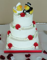 Rubber Duckies Wedding Cake