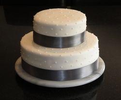 Silver & Pearls Wedding Cake