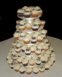 Black & White  Butterfly Wedding Cupcakes