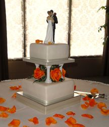 2 Tiered Square Wedding Cakes
