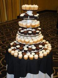 Chocolate & Cherry Chip Wedding Cupcakes