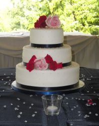 3 Tiered Wedding Cake with Roses