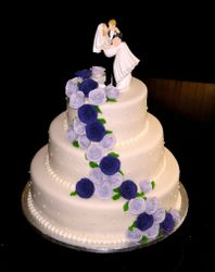 Cascading Roses in Lavender & Deep Purple