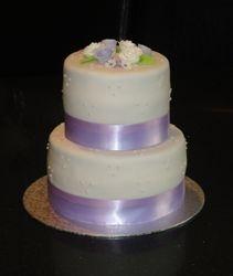 Lavender & White Wedding Cake