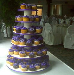 Silver and Purple Wedding Cupcakes