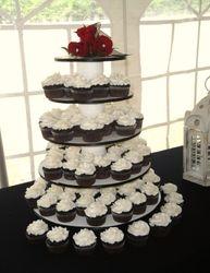Chocolate Fudge Wedding Cupcakes