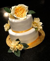 2 Tiers with Silk Flowers