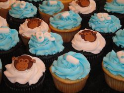 Baby Shower Cupcakes - Monkey Theme