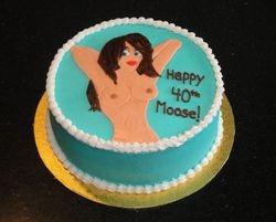 Bare Naked Lady Birthday Cake