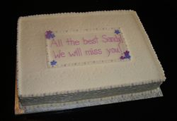 We'll Miss you!  Cake
