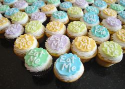 Alice In Wonderland Eat Me Mini Cupcakes