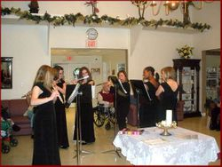 Flute Choir Entertains Seniors